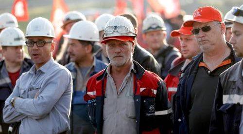 Protestmanifestatie tegen fusie Tata Steel